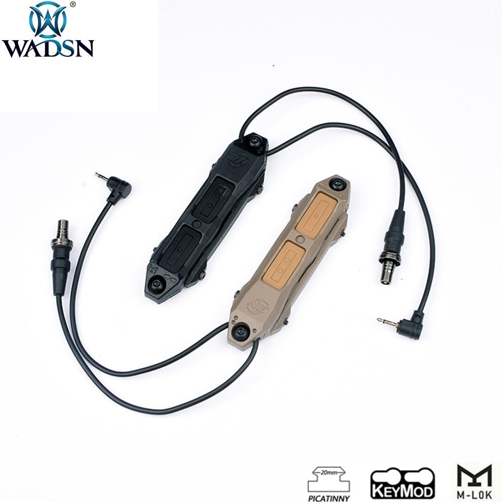 WADSN страйкбол PEQ Тактический Двойной переключатель давления для PEQ15 16A DBAL A2 оружейный светильник подходит для Keymod M-lok Rails