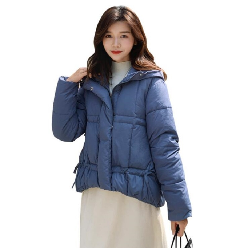 Chaqueta de invierno a la moda para mujer nueva abrigos mujer invierno 2019 versión coreana de la chaqueta con capucha mujer chaqueta suelta