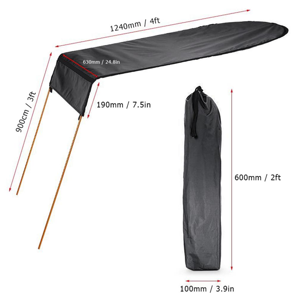 Toldo de barco velero para Kayak de una sola persona, cubierta superior para Kayak, canoa, toldo para el sol, toldo para pesca, toldo para el sol, toldo de lluvia