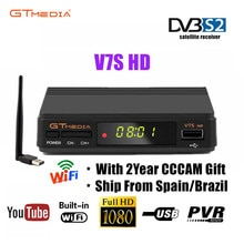 Orijinal Freesat V7S HD GTMEDIA V7S HD uydu alıcısı tam 1080P DVB-S2 HD desteği 2 yıl ücretsiz Cccam Cline powervu ağ