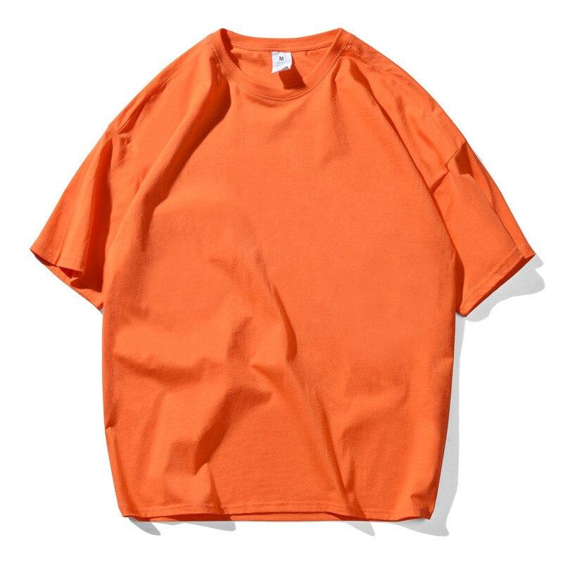 Camiseta de moda coreana para hombre, camiseta de calle alta con Souls oscuros para hombre y mujer, Color Naranja, Tops Retro Vintage, camiseta Harajuku 4XL 5XL