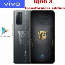 Original VIVO IQOO 3 transformeurs édition 5G SmartPhone Snapdragon 865 Android10 6,44 zoll Super AMOLED 55W Super