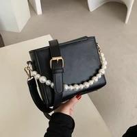 solid simple shoulder bag female crossbody bags for women leather messenger bags for girls handbag pearl sac new ladies bag