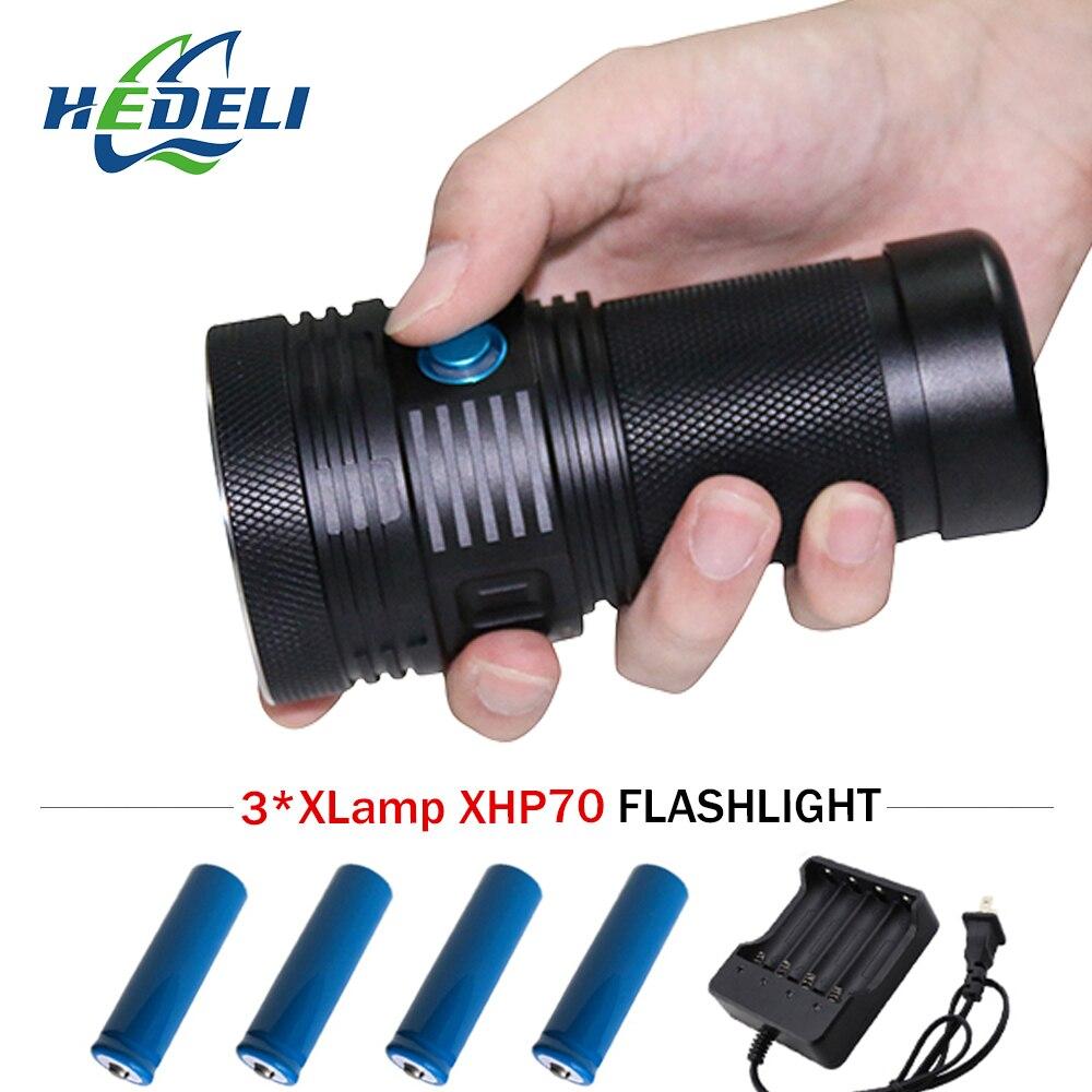 acampamento lanterna de longo alcance 3xhp70 lanterna spotlight xhp70 tocha 418650