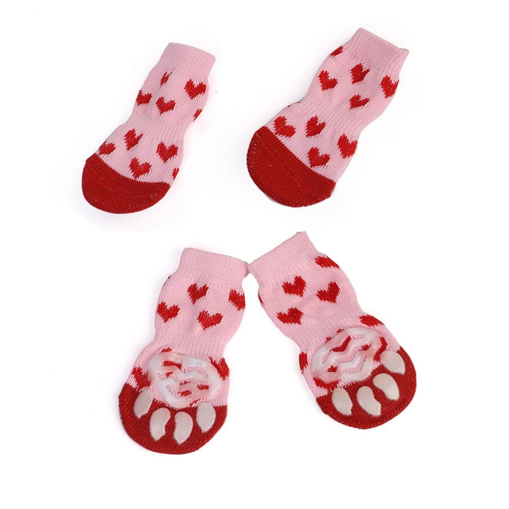 4 vnt / rinkinys mielų šuniukų šunų megztų kojinių mažiems - Naminių gyvūnėlių produktai - Nuotrauka 5