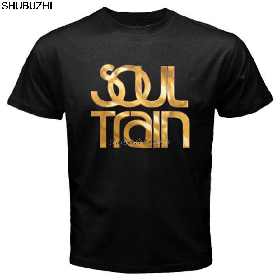 Nueva camiseta negra con Logo Musical de SOUL TRAIN para hombre, tallas S a 3XL, camiseta a la moda de verano para hombre, cómoda camiseta sbz1453
