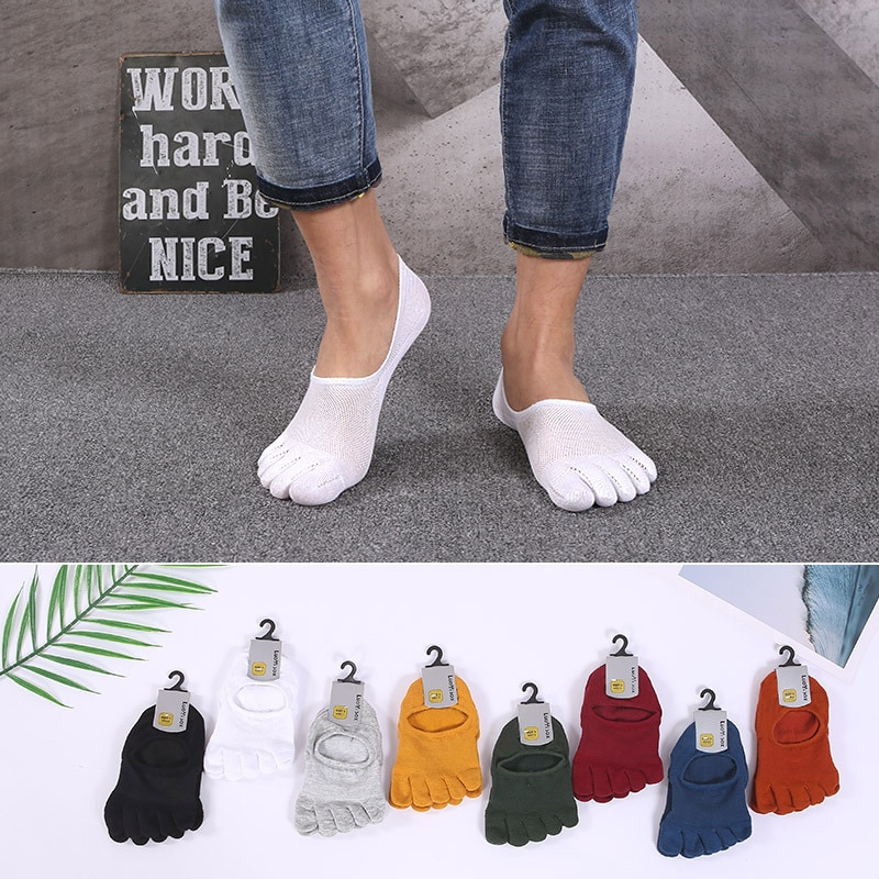 5 pairs Носки мужские носки Харадзюку мужские носки белые носки крутые носки пять пальцев носки без показа мужские носки хлопок