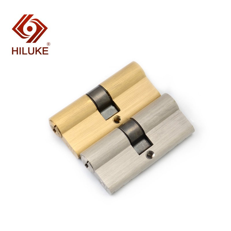 HILUKE ハードウェア 70 ミリメートル真鍮合金ドアロックシリンダーヨーロッパスタンダーロックコア高安全な鍵 cylindre デポルト deur cilinderslot