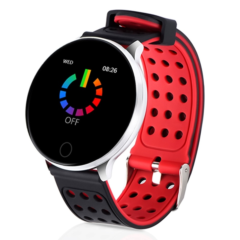 XANES B12 1.3in pantalla táctil IP68 impermeable HR BP Monitor de Fitness deportes Dial interruptor bluetooth reloj inteligente para Android IOS