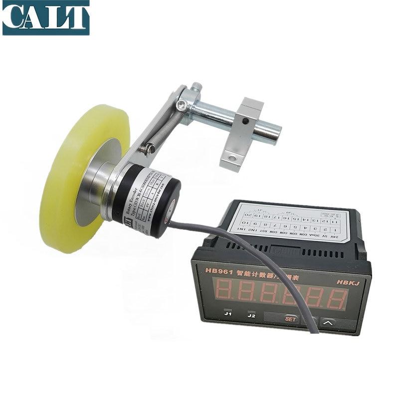 CALT-عجلة تشفير دوارة ، 38 مللي متر NPN إخراج عجلة تشفير ، 200 مللي متر GHW38 مع شاشة رقمية ، جهاز تشفير صيني رخيص ، HB961