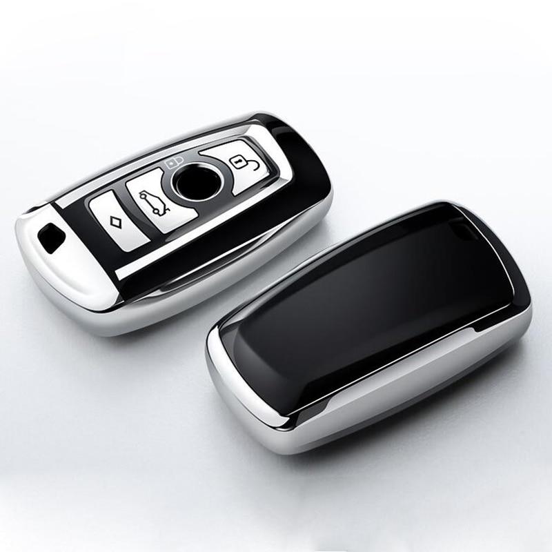 TPU coche caso clave para BMW 520 525 730li 740 118 320i 1 3 5 7 Serie X3 X4 M3 M5 inteligente Fob cubierta Protector llaveros Accesorios