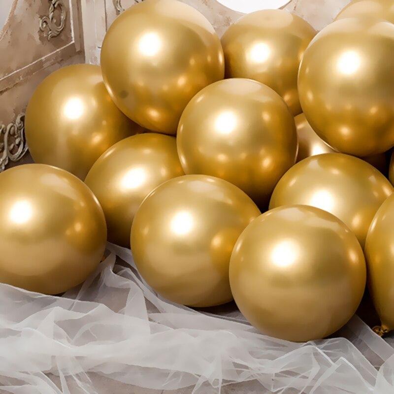 Globos de oro de plata verde, 20 unidades