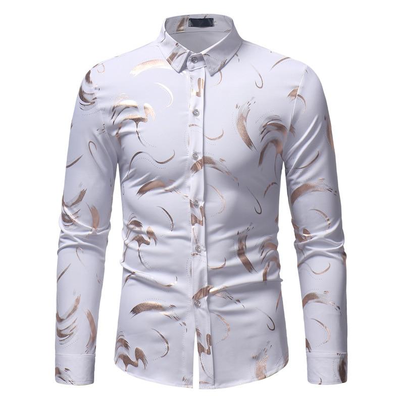 Мужские рубашки, рубашки с принтом для мужчин, рубашки с длинными рукавами для мужчин, Весенняя Мужская одежда, топы для мужчин