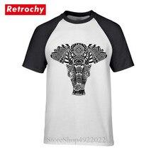 Streetwear Hip Hop Tees 2019 Fashion Hmoob Tribal Elephant T-Shirt Geek Style India Ganesha T Shirt Men Crew Neck Hipster Tshirt