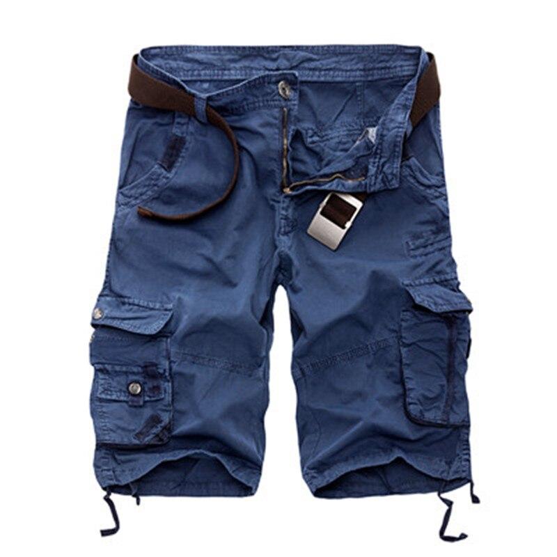 Мужские шорты-карго в стиле милитари, 2021 новые армейские камуфляжные шорты, мужские хлопковые свободные рабочие Повседневные Шорты, бриджи ...