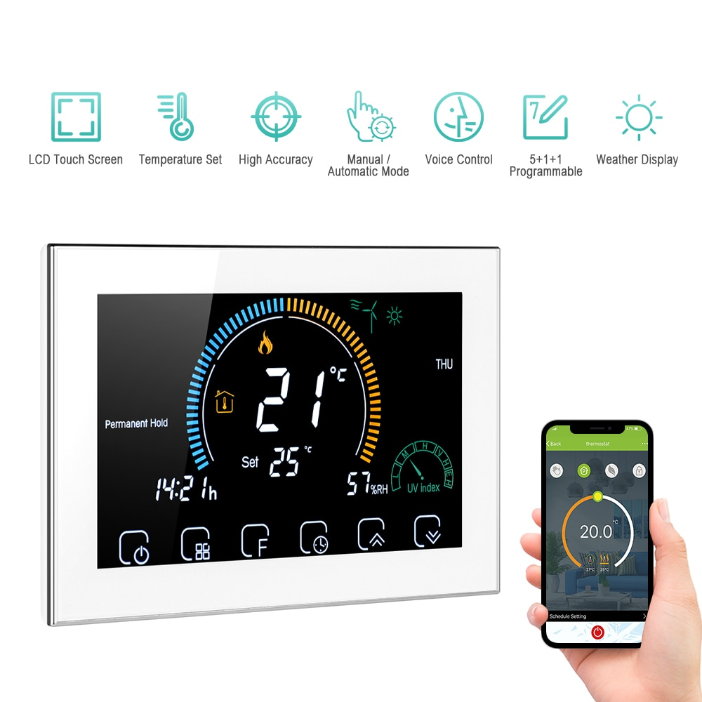 termostato termostato wifi controlador de temperatura programavel thermoregulator