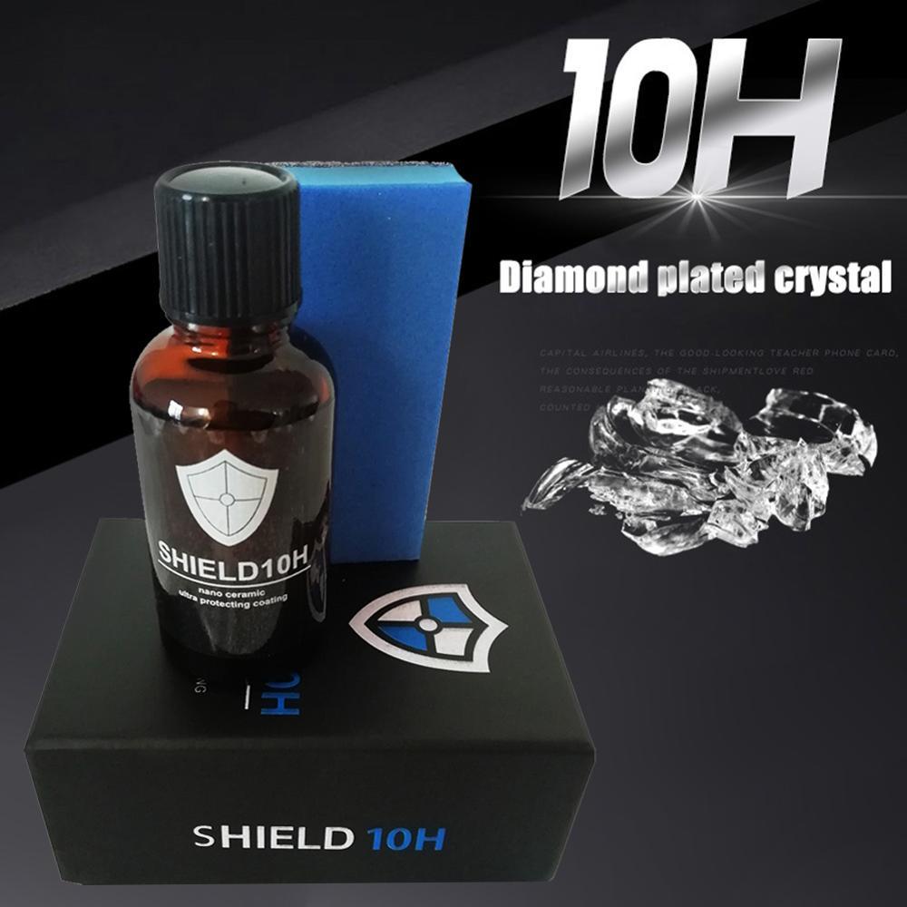 30ML Nano Ceramic Car Glass Coating 10H Liquid Super Hydrophobic Anti-scratch Polish Hydrophobic Coating  Agent Paint Cleaner