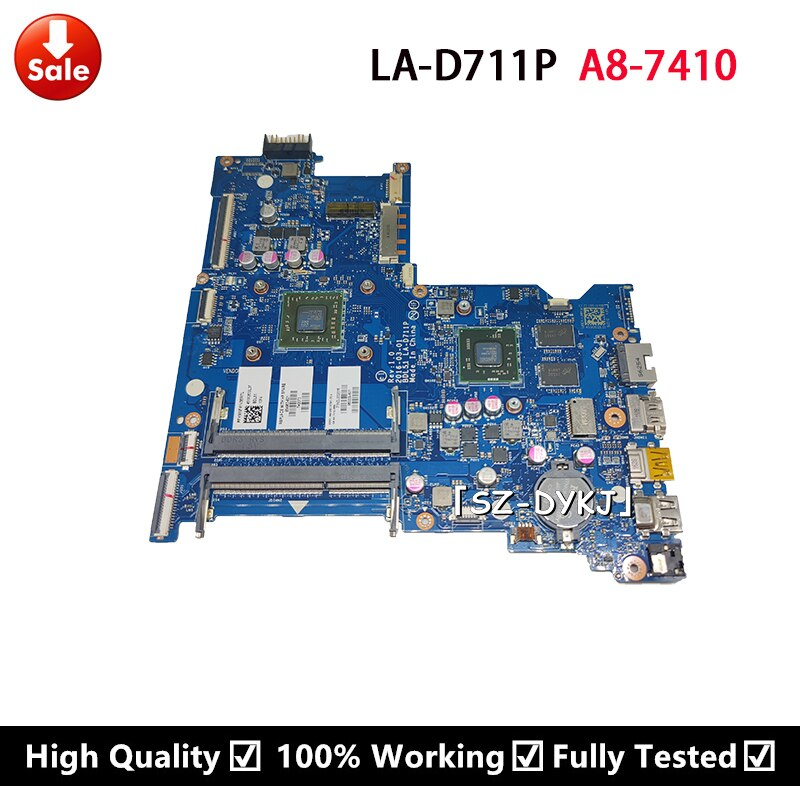 Материнская плата для ноутбука HP 15-BA 860339-601 854963-001 854963-601 BDL51 LA-D711P A8-7410