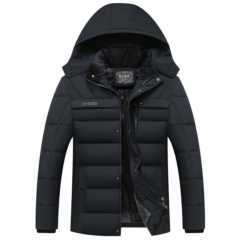 Мужское зимнее пуховое пальто с хлопковой подкладкой, Мужская утолщенная одежда, мужские парки, мужское зимнее пальто с капюшоном, пуховик, ...