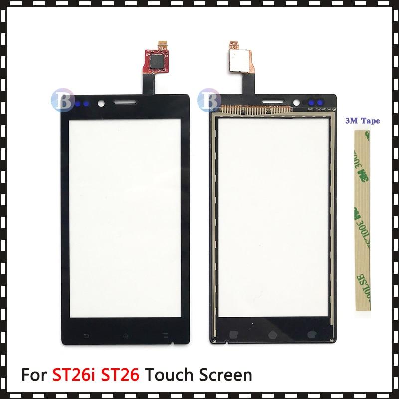 """Высокое качество 4,0 """"для Sony Xperia J ST26i ST26 сенсорный экран дигитайзер Передняя стеклянная линза сенсорная панель"""