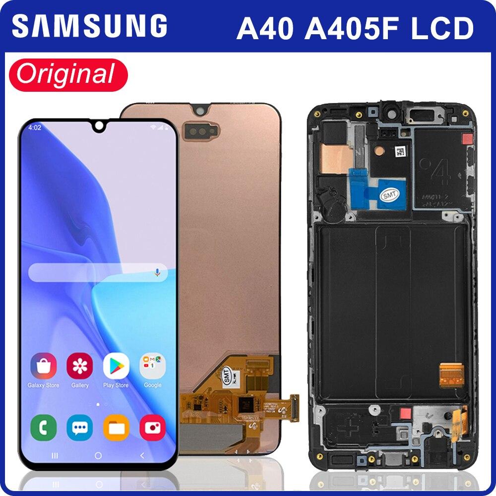 A40 Lcd عرض لسامسونج غالاكسي A40 A405F LCD عرض تعمل باللمس محول الأرقام لاستبدال سامسونج A405F A405FN A405FM
