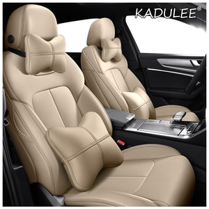 KADULEE Custom Leather car seat covers  For Citroen c-Elysee C-Triomph C2 C3-XR C4 C5 C6 C4-Aircross C4 PICASSO DS5 DS6 DS 5LS