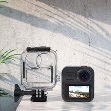Pour GoPro Max boîtier étanche boîtiers housse de protection pour Go Pro 360 panoramique sport caméra plongée boîtier trempé Film ensemble pièces