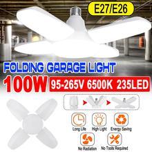 30W/45W/ 60W/100W 6500K Geleid Garage Verlichting Winkel Utility Plafond Vervormbare daglicht Leds Lamp Voor Garage Kelder Workshop