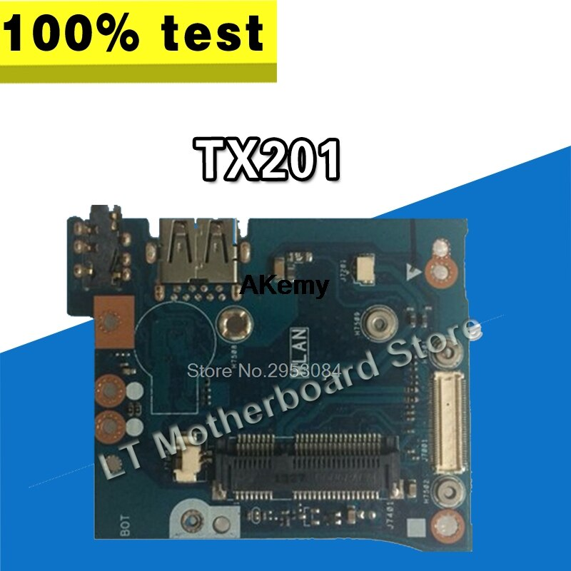 Original para For Asus TX201 TX201L TX201LA AUDIO USB WLAN IO tablero...
