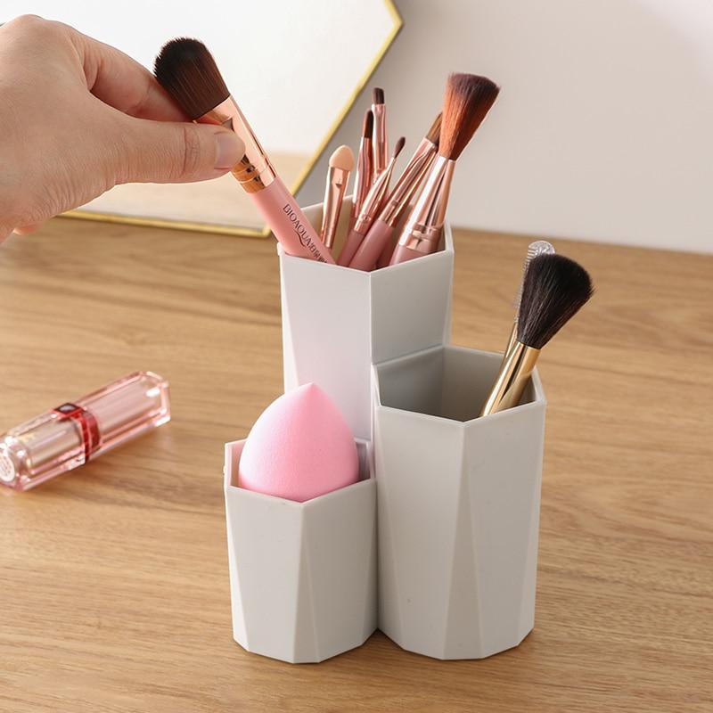 3 rešetke kozmetični ličila škatla za shranjevanje škatla miza - Organizacija doma - Fotografija 3