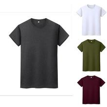 Hommes moderne t-shirt 100% coton surdimensionné s-5xl col rond couleur unie à manches courtes décontracté sauvage nouveaux T-shirts pour hommes vêtements