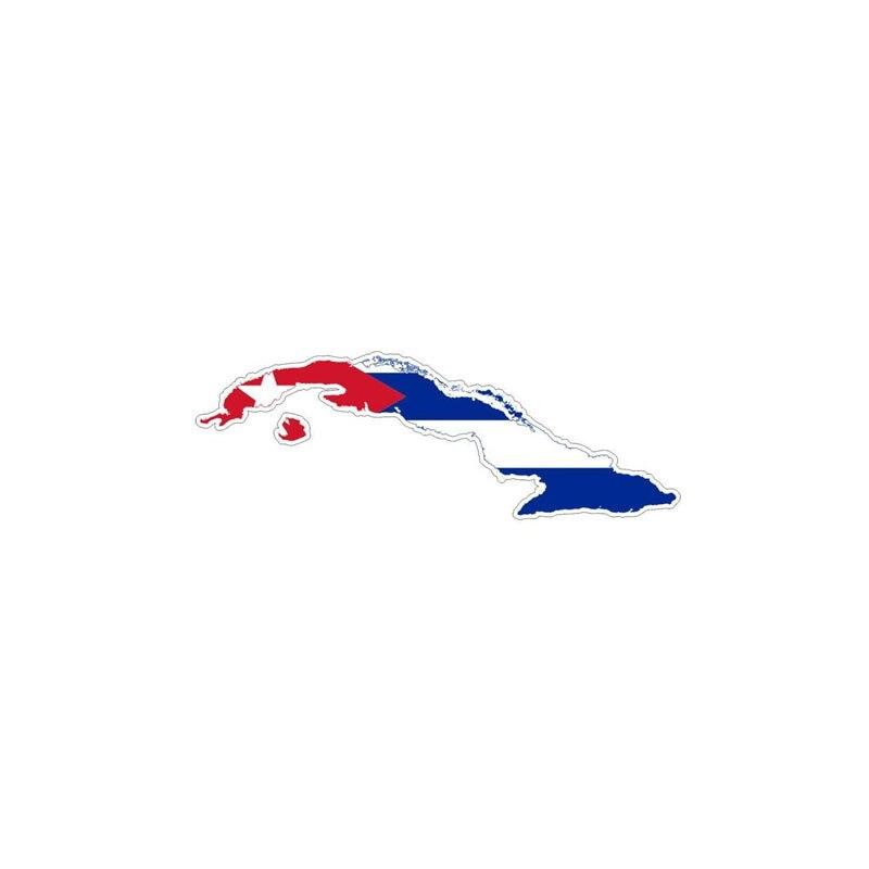 Купить с кэшбэком 15cmx5cm Creative Cuba flag map Vinyl Car stickers Decals Motorcycle Accessories Car-Window Decorative Goods PVC