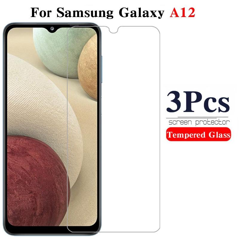 3 шт. Защитная стеклянная пленка на Samsunga12 Galaxya12 защита для экрана закаленное стекло для Samsung Galax A12 A 12 12A закаленное стекло 9H Защитные стёкла и плёнки      АлиЭкспресс