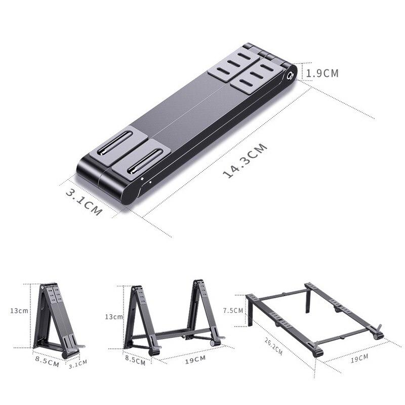 Купить с кэшбэком Magic Foldable Aluminum Laptop Mobile Phone Stand For Macbook Pro Air Notebook Iphone Mobile Tablet Holder Desk Stand