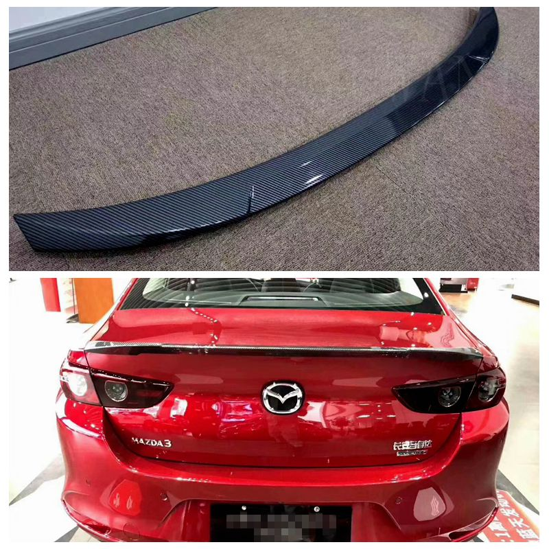 UBUYUWANT High Quality ABS Car Tail Wing Decoration Rear Trunk Spoiler For  2019 2020 Mazda 3 Axela Sedan