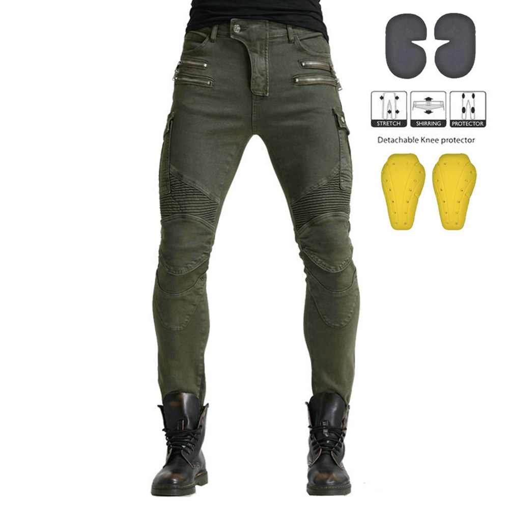 Motocicleta pantalones hombres Motocross chaqueta pantalones gira pantalones de montar de Pantalon de equipo Moto para pantalones