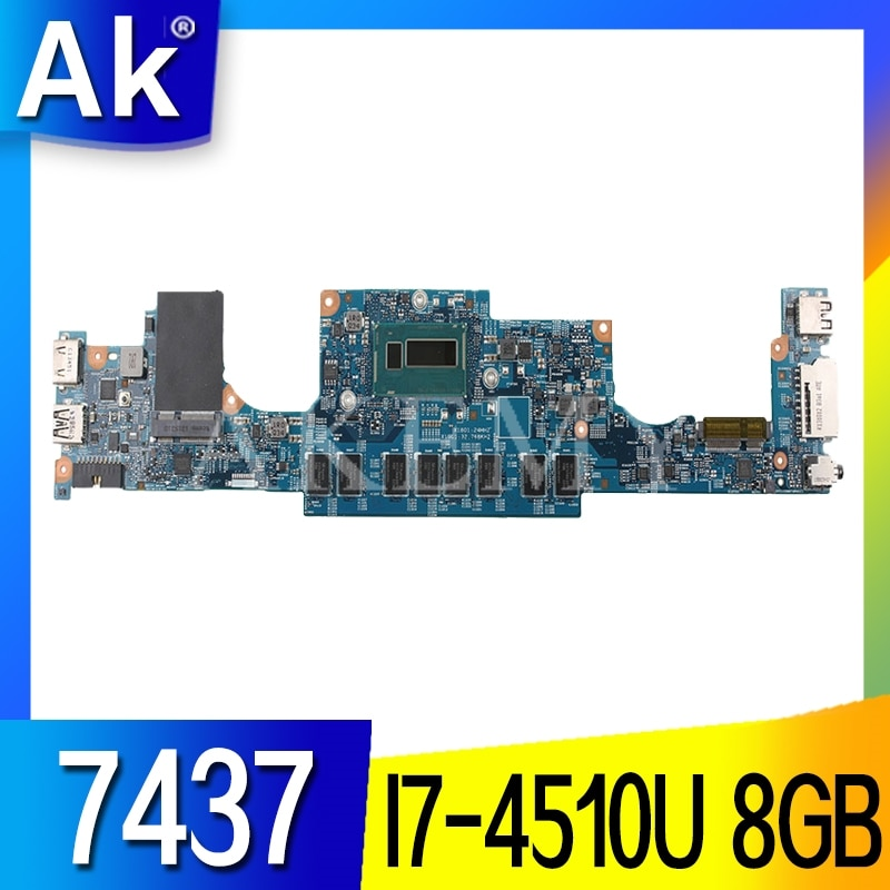 I7-4510U 8 GO POUR For DELL INSPIRON 7437 ordinateur portable carte mère DOH40 12310-1 RKNM5 CN-0NT27R 0NT27R NT27R carte mère PC portable