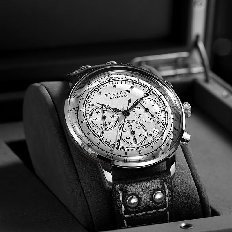 FEICE 2020 New Design Fashion Chronograph Watch Men's Quartz Stopwatch Waterproof Casual Sport  Wrist Watches FS303