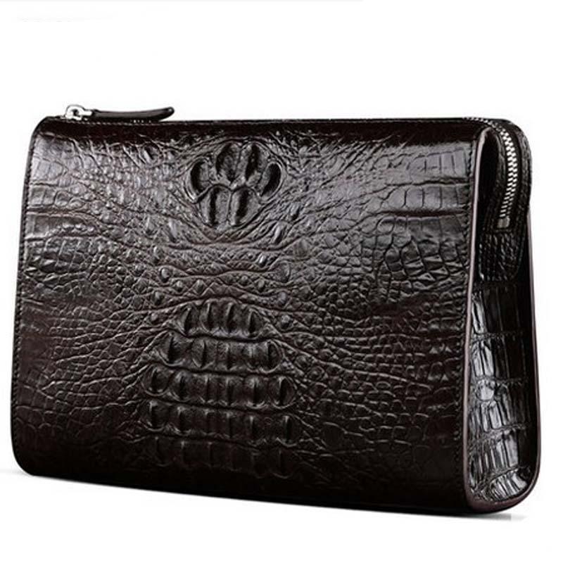 shidifenni new men clutch bag male crocodile leather men handbag large capacity cross section male bag business wrist bag