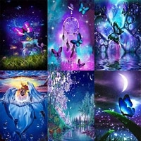 shayi diy 5d diamond painting mosaic embroidery cross stitch starry sky butterfly full squareround drill home decor picture