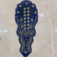 new embroidered necklace patches embroidered collar applique for mens clothes decoration