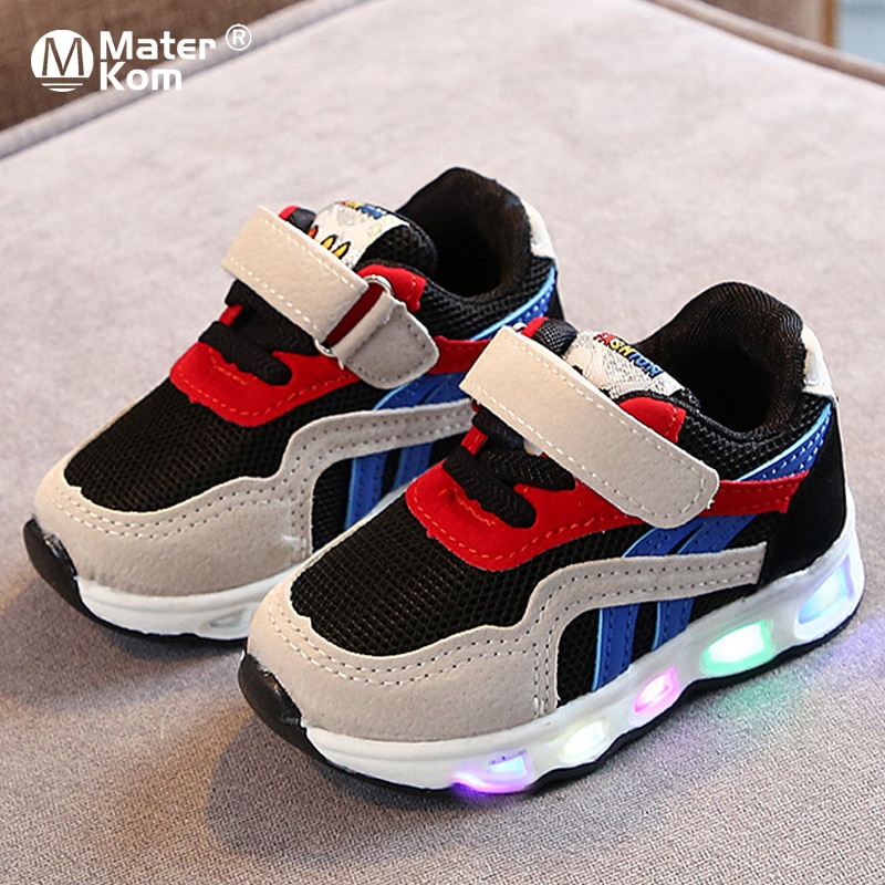 Size 21-30 Children's Led Shoes Boys Girls Lighted Sneakers Glowing Shoes for Kid Sneakers Boys Baby