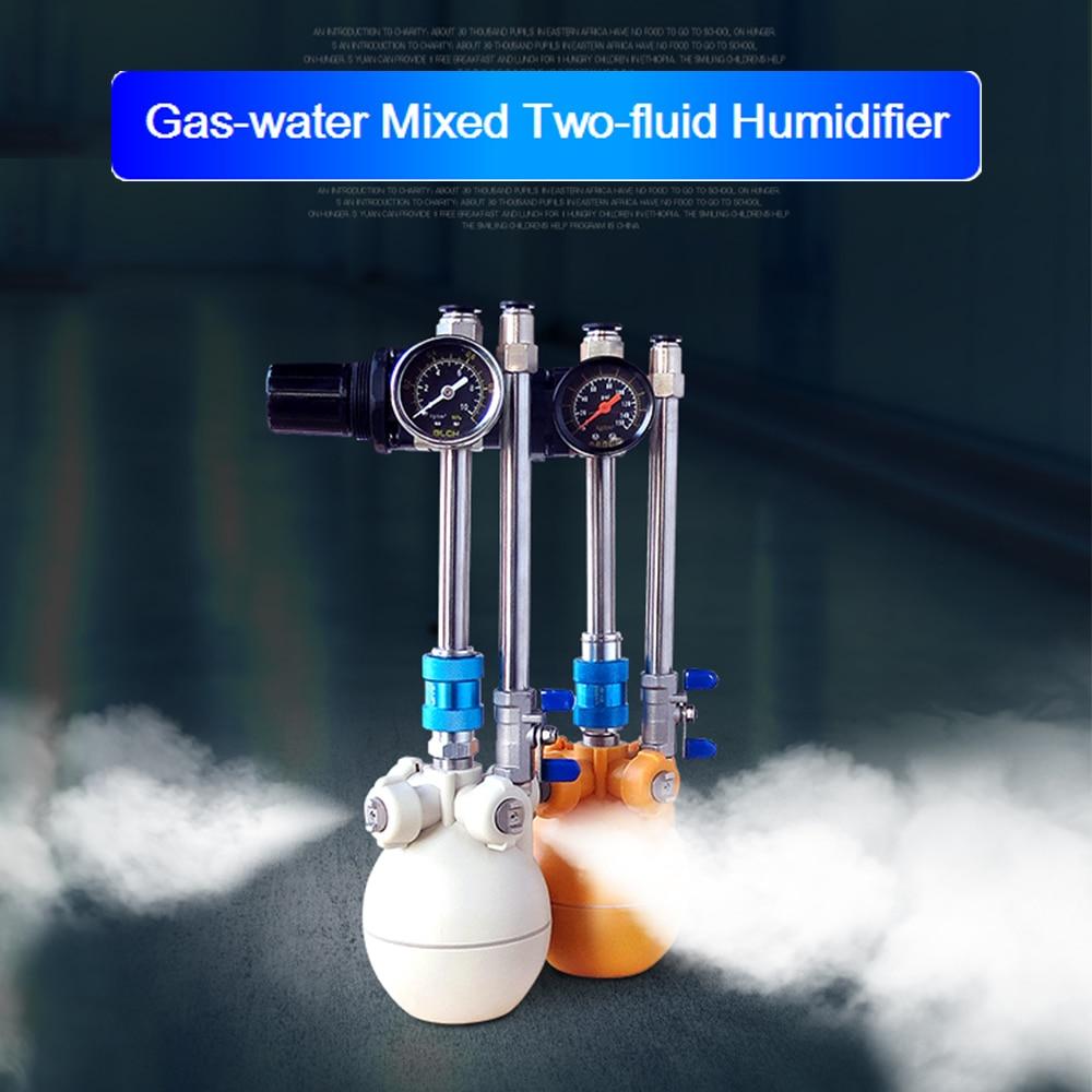 الغاز والمياه مختلطة اثنين من السوائل المرطب مصنع النسيج ورشة التبريد رذاذ ضباب جاف الغاز والماء الهجين المرطب آلة التغشية