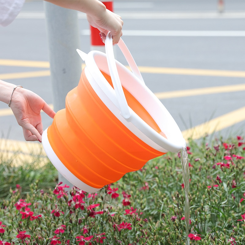 1.5L - 10L Silicone Folding Bucket for Fishing Promotion Folding Bucket Car Wash Outdoor Fishing Round Square Camp Room Bucket enlarge
