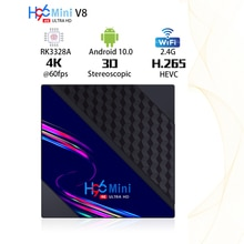 H96 MINI V8 Smart TV Box 2.4GHz Wi-Fi Android 10.0 RK3228A 8GB 16GB USB3.0 1080P H.265 60fps Youtube