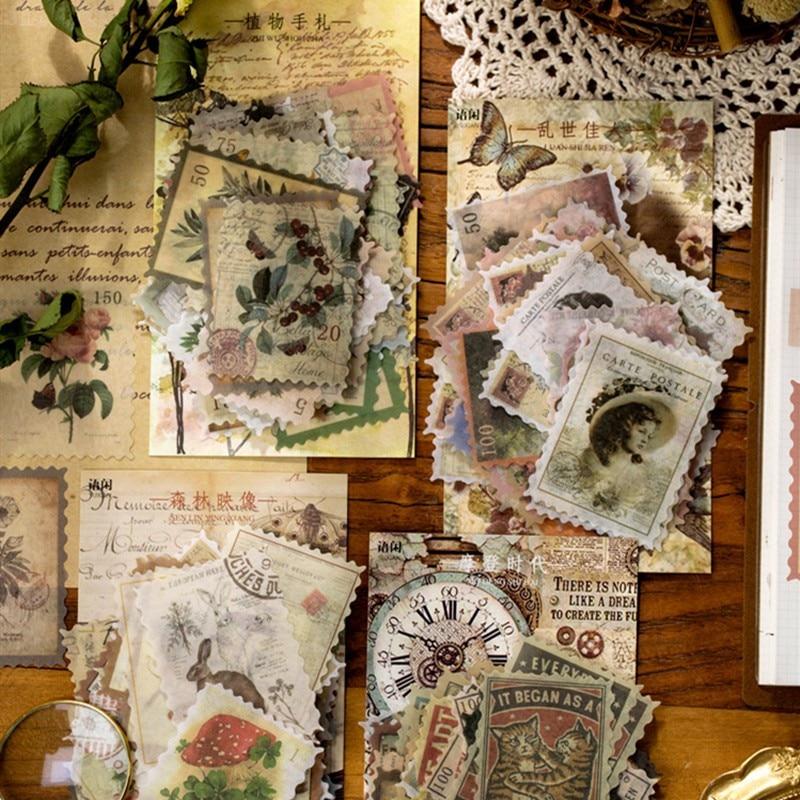 60pcs-set-di-adesivi-di-cancelleria-vintage-piante-retro-fiori-modello-decorazione-etichetta-adesiva-per-diario-scrapbooking-planner