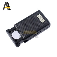 30X/60X Folding Eye Magnifier Glass LED With LED Optical Lens Loupe Light for Jewelry Watch Repair T