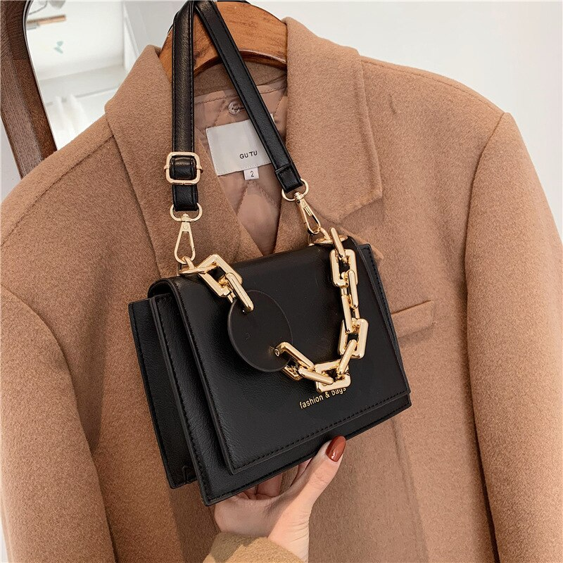 European and American Retro Handbag Messenger Shoulder Small Square Bag2021Popular New Trendy Fashion All-match Chain Female Bag