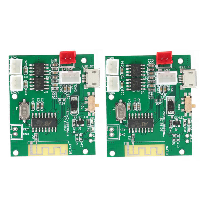 1 Pair Power Amp Module Amplifier Board Audio Stereo Sound Speaker for Bluetooth 5.0 TWS 3.7-5V For Bluetooth Module Board enlarge