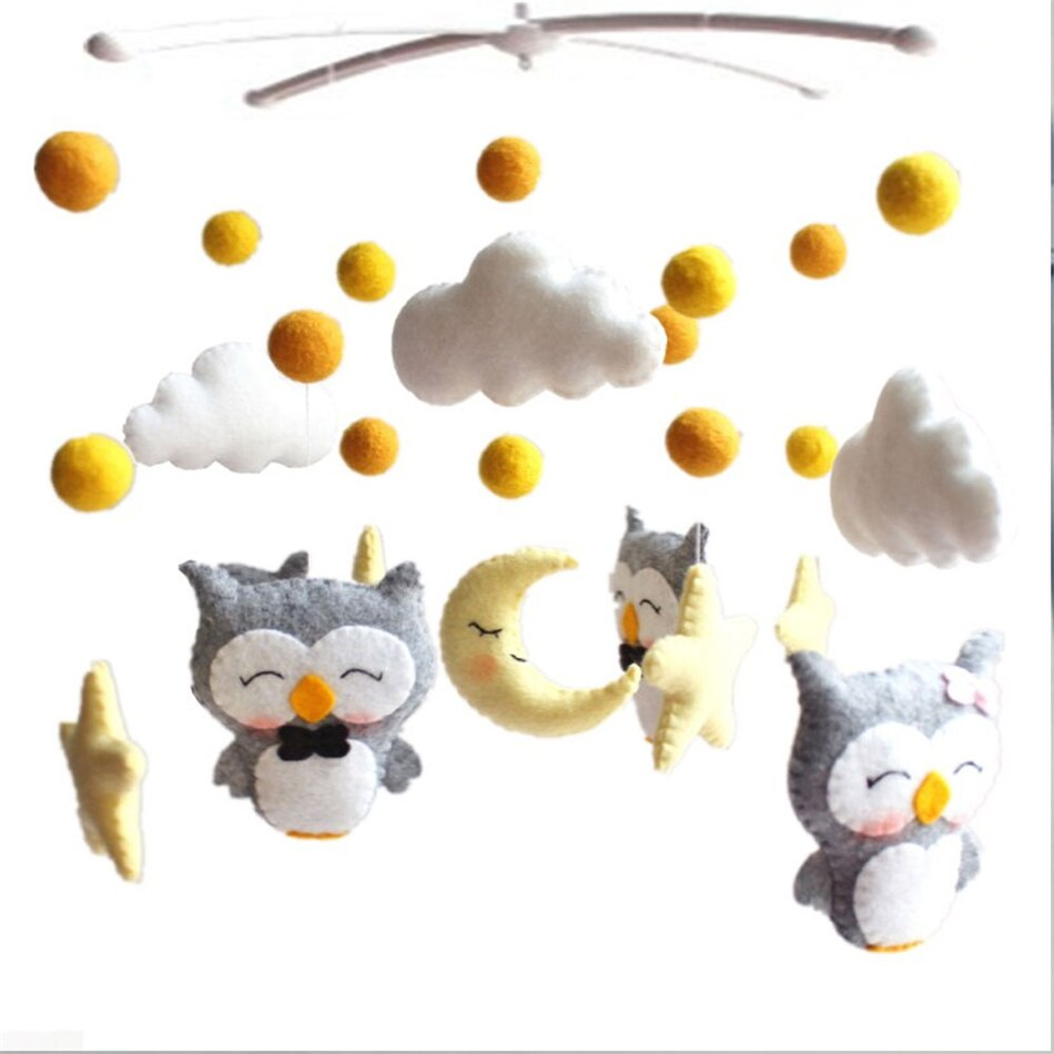 baby toys white rattles bracket set baby crib mobile bed bell toy holder arm bracket wind up music box drop shipping Baby Mobile Crib Holder Rattles Bracket Clockwork Music Box DIY Bed Bell Material Package Toy Pregnant Mom Handmade Toys Baby